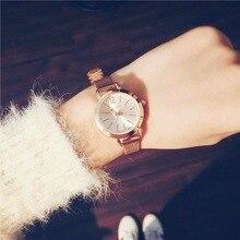 2017 New Fashion Classic Casual Ladies Gold Bracelet Watch Analog Quartz Watches Elegant Steel Strap Women