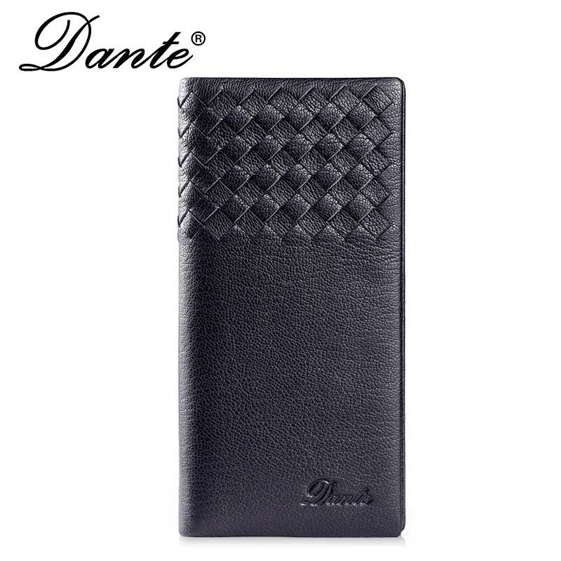 Genuine Leather Men Clutch Wallet Luxury Brand Dante Soft Sheepskin Card Holder Money Bag Famous Delicate Long Men's Wallets designer men wallets famous brand men long wallet clutch male money purses wrist strap wallet big capacity phone bag card holder