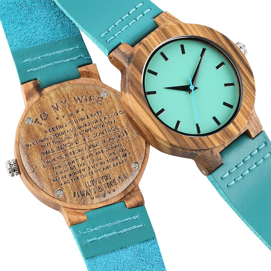 Engraved DIY Custom Words To My Wife My Soulmate Clock Wooden Watch Ladies Clock Hours Anniversary Gifts For Women Wife My Angel