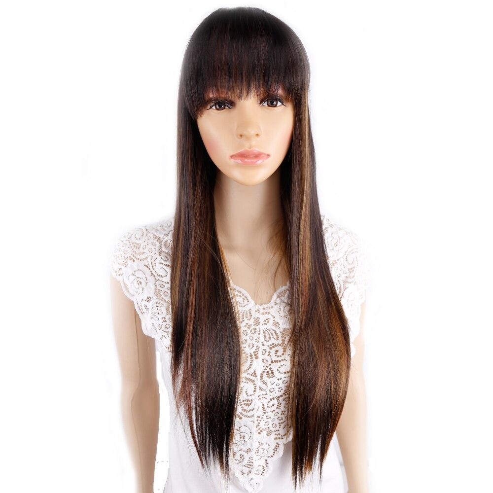 Amir Long Straight Cosplay Wig Black Purple Black Red Blonde Dark Brown 68Cm Synthetic Hair Wigs