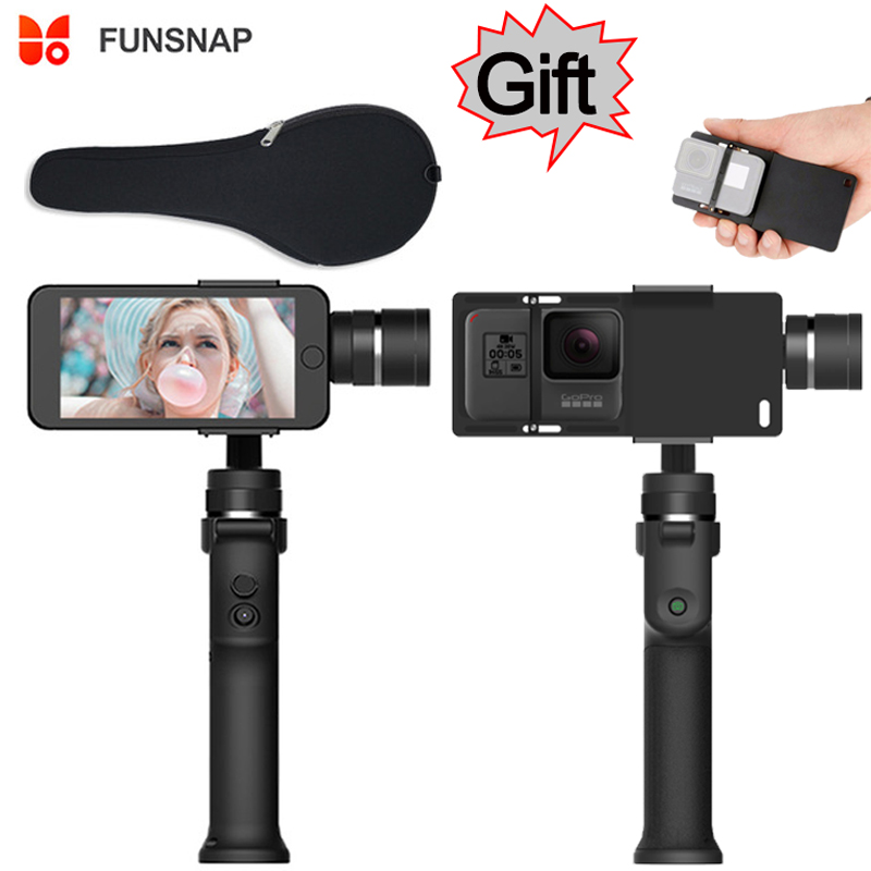 Funsnap captura 3 eje mango teléfono Gimbal estabilizador steadicam para Smartphone iPhone X 8 VS Zhiyun Smooth 4 Feiyu vimble 2