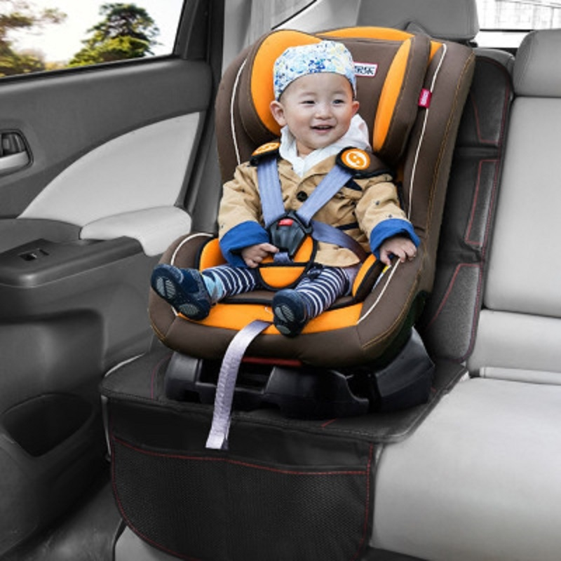 Car Seat Cover Oxford Luxury Leather Breathable Anti-Slip Protector Child Baby Auto Seat Protector Mat 123x48cm (1)
