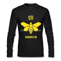 Fashion Style Mens Vintage T Shirts Bee Wholesale Breaking Bad Clothing Camisetas Long Sleeve Man T