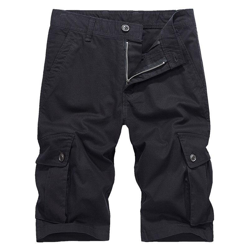 LEDINGSEN 2018 Mens Spring Summer Army Green Cargo Shorts Bermuda For Men Military Cotton Casual Black Shorts Homme Trousers