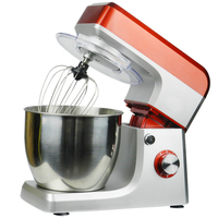 6.5L electric planetary food mixer machine blender spiral bread dough mixer egg beater with dough hook removable bowl