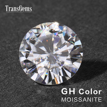 TransGems 10mm 4 Carat GH Color Certified Lab Grown Moissanite Diamond Loose Bead Test Positive As Real Gemstone