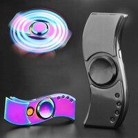 Propeller Style Fidget Hand Finger Decompression Gyro Cigarette Lighter With LED Flash Light USB Charging