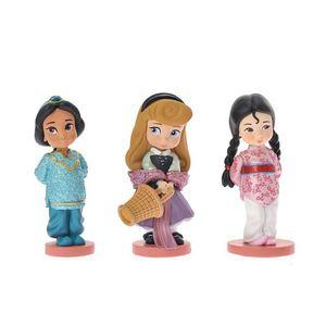 Image 3 - 11 Uds. 8 10cm linda princesa Blancanieves & bella & Rapunzel & Ariel muñeca de figuras de acción