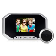 TEQStone 3.0″ HD LCD Digital Doorbell Peephole Viewer Camera Intercom Monitor Video Silver