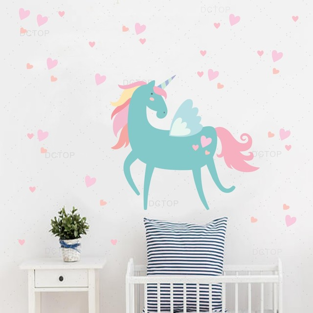 nordic style unicorn wall sticker vinyl wall decal for kids room