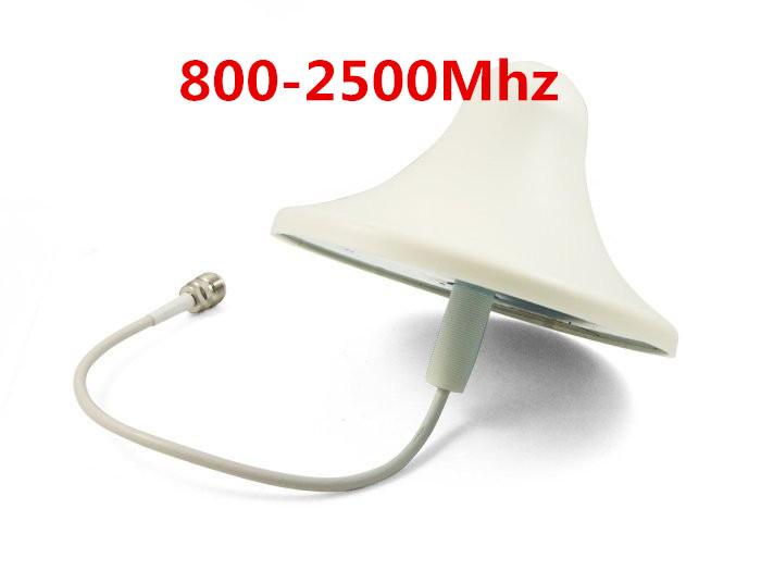 Free shipping 800-960MHz/1710-2500Mhz 6dBI indoor Antenna for GSM , CDMA , WCDMA , DCS , 2G 3G 4G For signal Repeater Boosterr