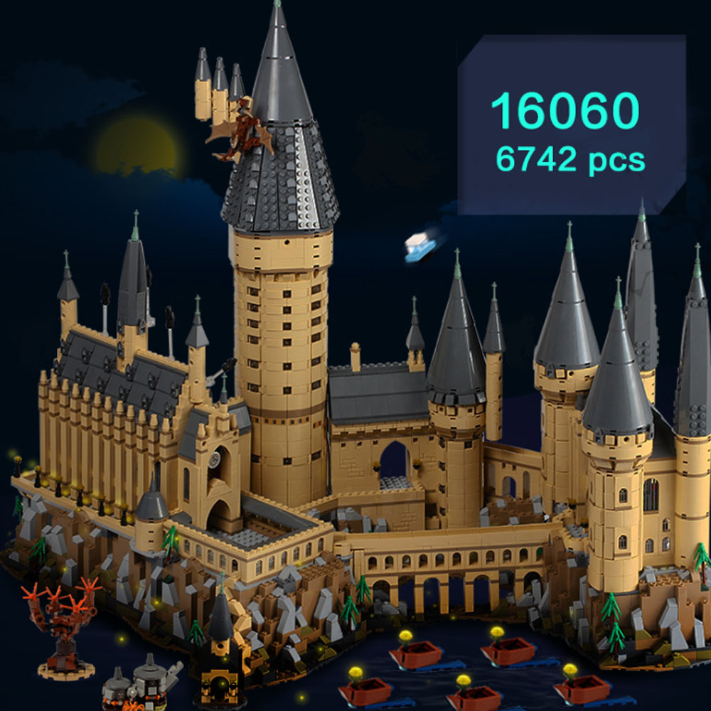 Lepin 16060 6472 pièces Harry Magie Potter Poudlard Château 71043 blocs de construction Briques Enfants Éducatifs bricolage Jouets Talkie Walkie