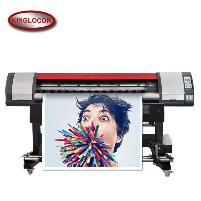 Profesional Industri 1.8 M/6 Kaki Satu XP600 Mesin Cetak Digital Vinyl Printer FLEX Banner Outdoor Printer Eco Solvent