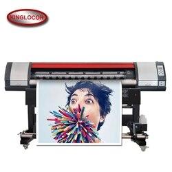 Profesjonalna przemysłowa 1.8 M/6 stóp jedna maszyna do druku cyfrowego XP600 Vinyl baner elastyczny drukarka zewnętrzna drukarka Eco Solvent