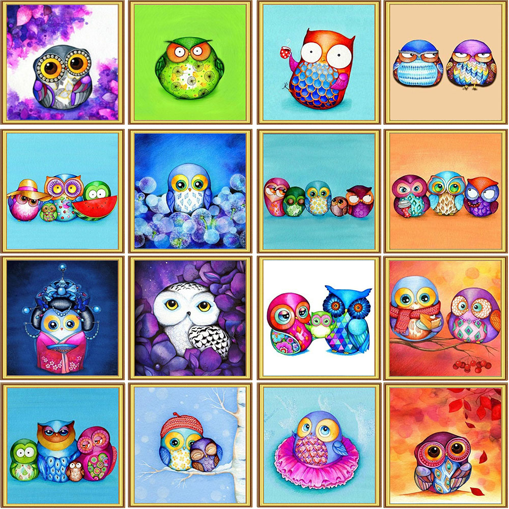 Arts,crafts & Sewing Buy Cheap Homfun Full Square/round Drill 5d Diy Diamond Painting owl Tree Embroidery Cross Stitch 5d Home Decor Gift A02405 Discounts Sale Diamond Painting Cross Stitch
