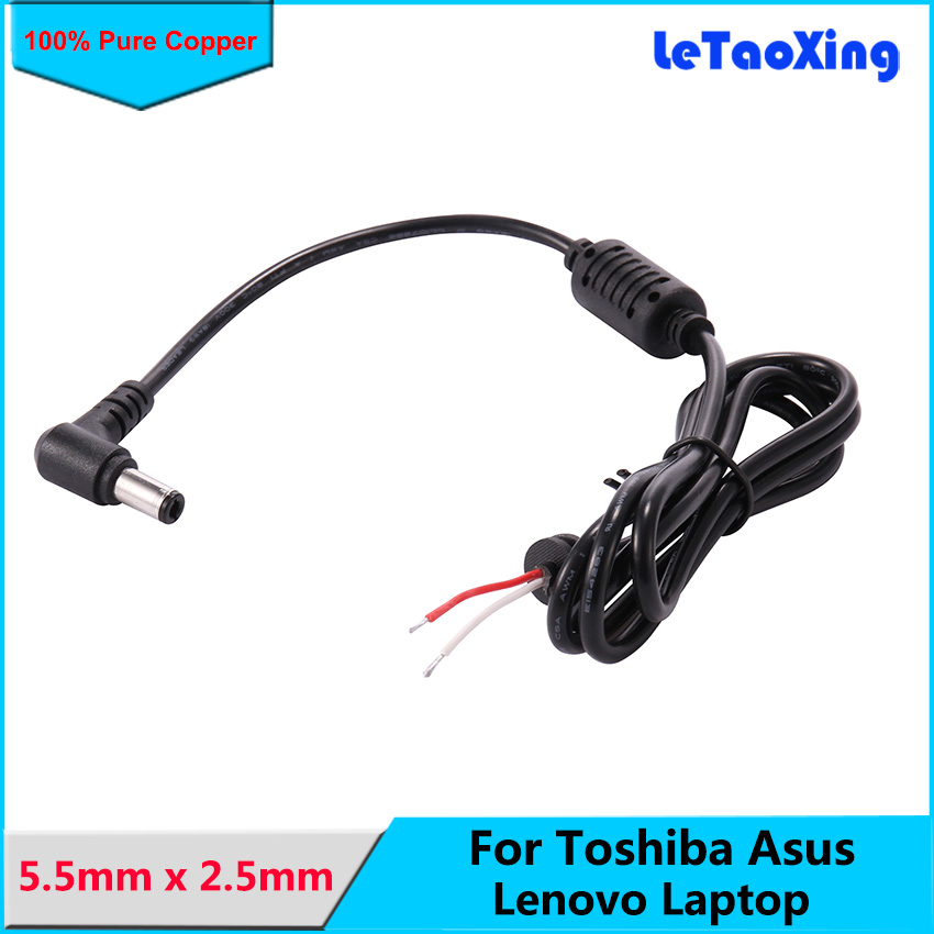 DC 5.5 x 2.5mm Male Cable For Toshiba Asus Laptop Adapter Notebook Chargers Cord