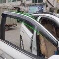Accesorios aptos para la 2013 2014 2015 2016 mitsubishi outlander deflectores de ventana lateral lluvia guardia visera weathershields