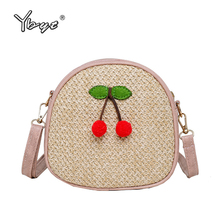 Casual Women Bags Round Straw Shoulder Bag Summer Style Small Woven Fashion Ladies Messenger Crossbody