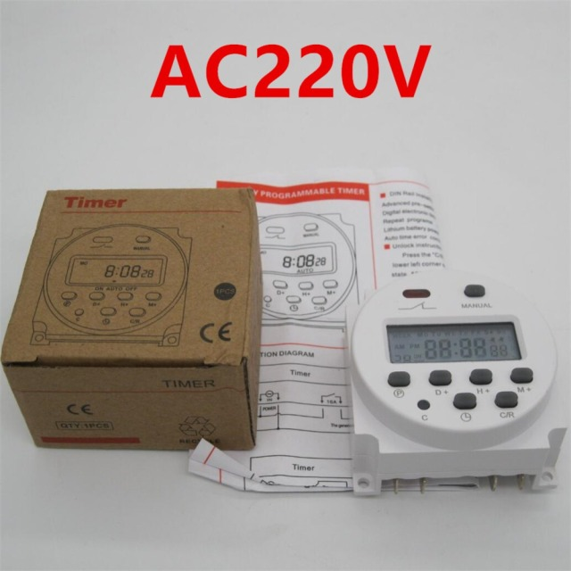 High quality CN101A AC 220V 230V 240V Digital LCD Power Timer Programmable Time Switch Relay 16A_640x640 aliexpress com buy high quality cn101a ac 220v 230v 240v digital cn101a timer wiring diagram at gsmportal.co