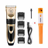 Pet Dog Hair Trimmer Dog Cat Hair Clippers for Small Medium Large Pets Electric Nail Clipper Grooming Set 110-240V
