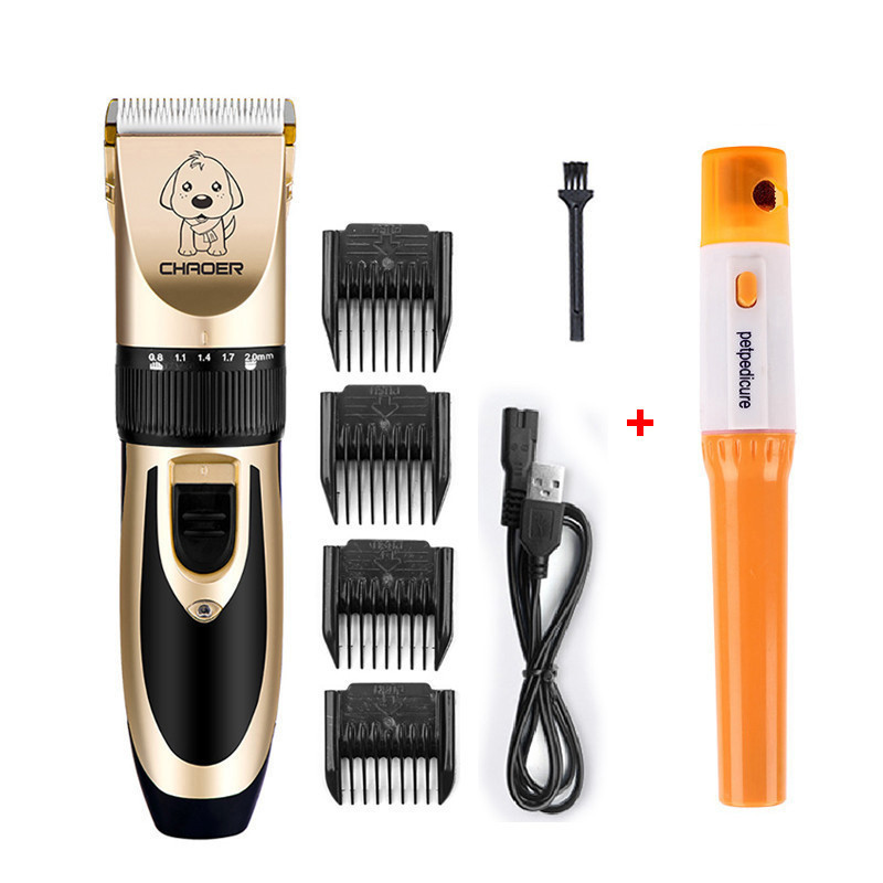 Pets Hair Trimmer Dog Cat Hair Clippers for Small Medium Large Pets Electric Nail Clipper Grooming Set 110-240V image