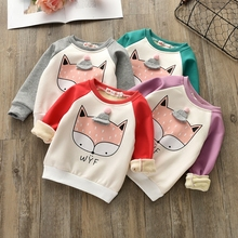 Children's clothing boys and girls sweater 2018 spring and autumn children's warm coat cotton children's bottoming shirt 24M-6T