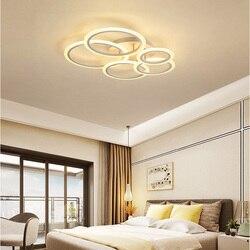 Akrylowe kręgi oświetlenie sufitowe LED oświetlenie do salonu mody minimalistyczny osobowości twórczej lampka do sypialni okrągły Art światło kopuły