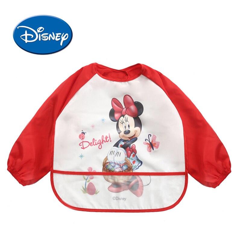 Disney принцессы детские нагрудники с длинным рукавом мультфильм хлопок Водонепроницаемый нагрудник Burp одежда Baberos детские вещи disney аксессуа...