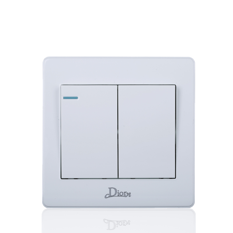 UK Standard 2 gang 1 way wall switch and 10A wall light switch with 86*86 mm electric switch suck uk