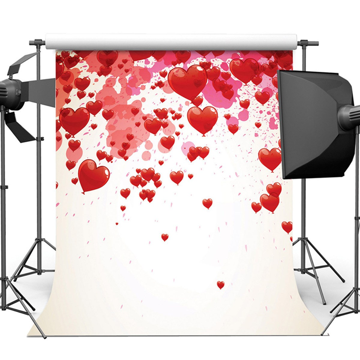 8X8FT Vinyl Love Heart Photography Background Studio Backdrop Wedding Photo Prop 2018 New Arrival