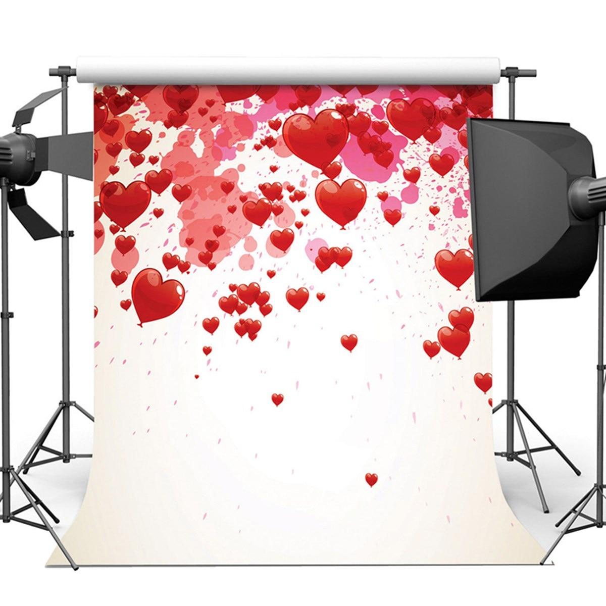 8X8FT Vinyl Love Heart Photography Background Studio Backdrop Wedding Photo Prop 2018 New Arrival 8x8ft black white stripes wall custom vinyl photography background studio photo prop photographic backdrop 2 4m x 2 4m