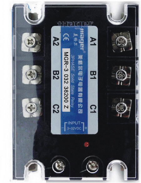 mager MGR-3 032 38200Z three-phase solid state relay DC-AC control genuine three phase solid state relay mgr 3 032 3880z dc ac dc control ac 80a
