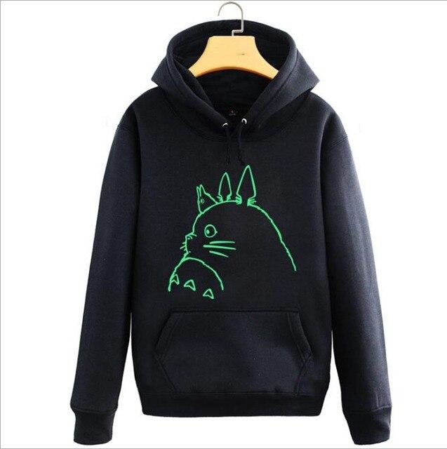 Lumineux Totoro Miyazaki Anime Hayao Hoodie Capuche Veste À Manteau CvqIwx
