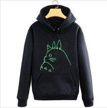 Anime Totoro Hoodie Miyazaki Hayao Luminous hoodie Jacket Coat Fashion Men Women Sweatshirts
