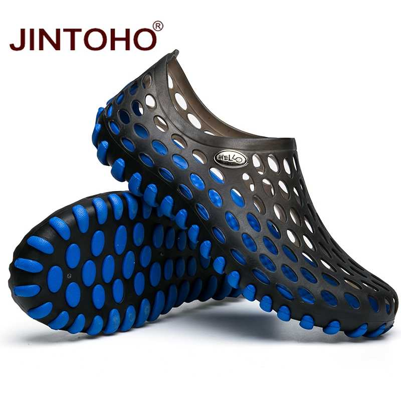 3835eb53278fb ... JINTOHO New 2017 Famous Brand Casual Men Sandals Fashion Plastic  Sandals Summer Beach Shoes Water Shoes ...
