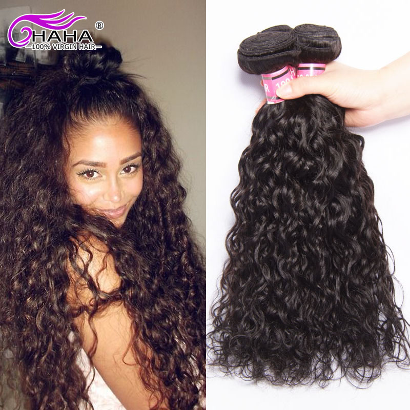 Grade 7a Brazilian Virgin Hair Water Curly Weave Human Hair Bundles