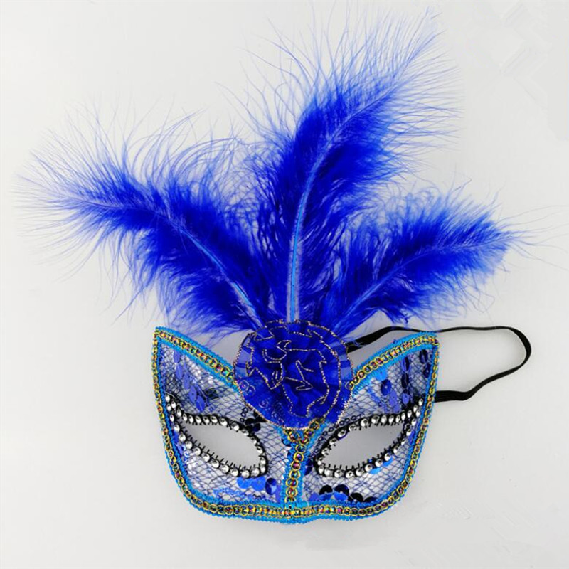 c4989ac5c2068 Decorated with colorful feather,very fashionable and beautiful. Great for  christmas,masquerade party,dress party,dance performance and etc.