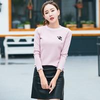 2018 Spring New Sweater Women Long Sleeve Slim Was Thin Sweater Korean Wild Shirt 6078