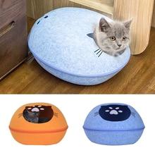 Cat Pet Cave Zipper Design Bed High Quality Felt For Cats Kittens Pets