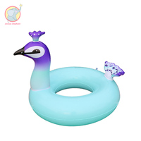 90cm / 120cm inflatable peacock swan swim ring for swimming circle pool Summer Pool Float For Adult Kids Water Party Toy
