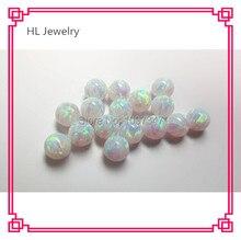 Opal Bead 3mm/4mm/5mm/6mm/7mm Opal Synthetische Kralen Wit Fire Synthetische Opaal Bal