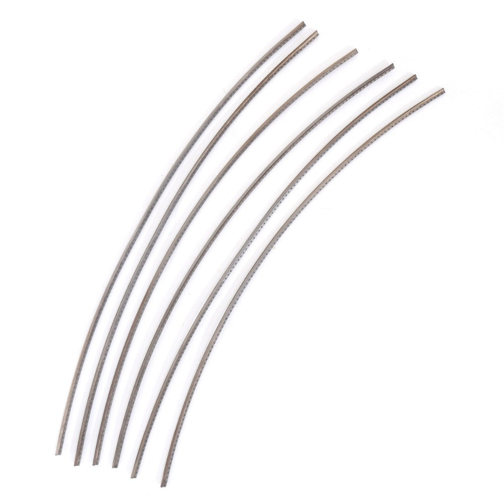 Musiclily Sintoms Premium Titanium Electric Guitar Jumbo Fret Wire 2.8 mm Set New musiclily 3ply pvc outline pickguard for fenderstrat st guitar custom