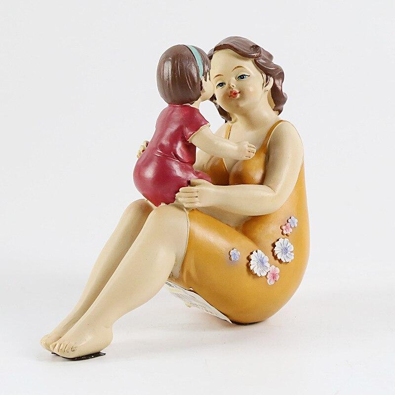 Mère américaine aime la famille chaude décoration série de personnages de résine artisanat décoratif ameublement cadeau de fête des mères - 5