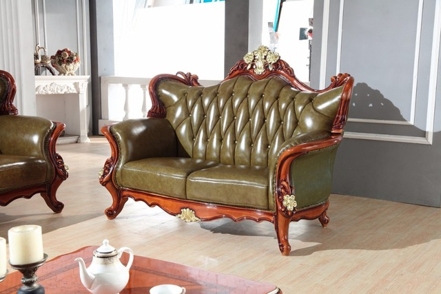 luxury European leather sofa set living room sofa China wooden frame sectional sofa