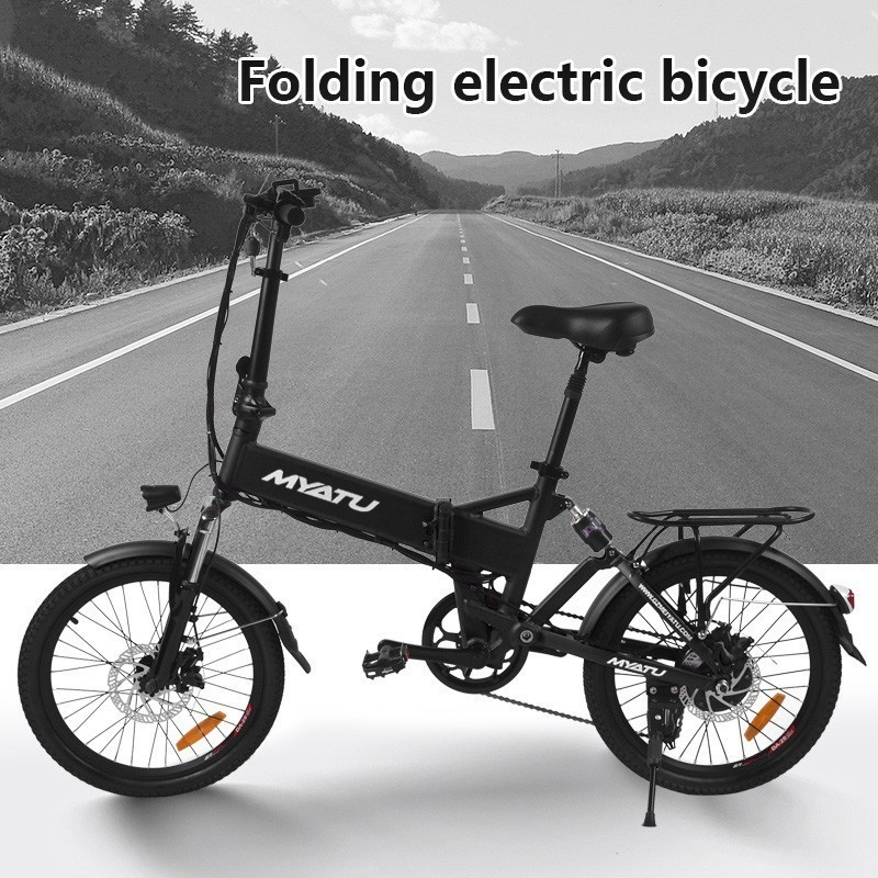 LOVELION 250W Motor Folding adult Electric Bike 36V 7 5AH Battery LCD Display Electric Bicycle With Front LED Light ebike in Electric Bicycle from Sports Entertainment