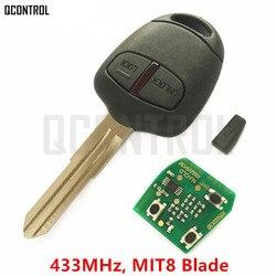 QCONTROL Car Remote Key Suit for MITSUBISHI Outlander Pajero Triton ASX Lancer MIT8 Blade 433MHz