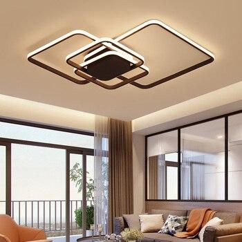 techo LED sala de para blancasmarrones Luces de estar QxsrCthd