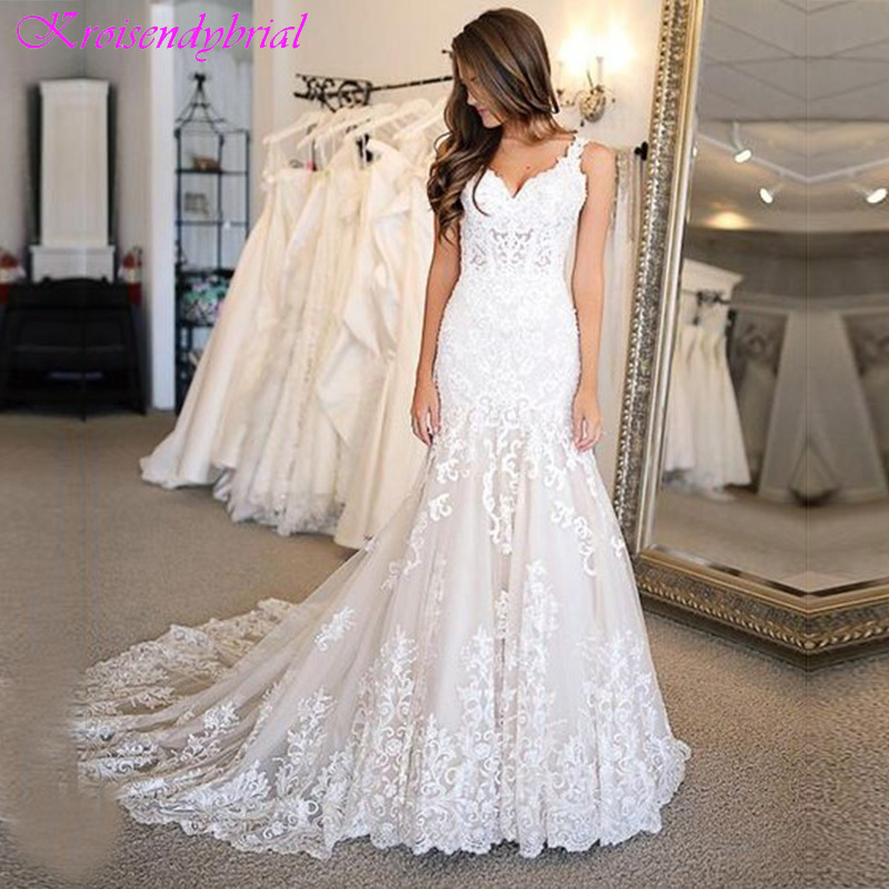 DZW350 Vestido De Noiva 2019 Wedding Dress Simple Vintage