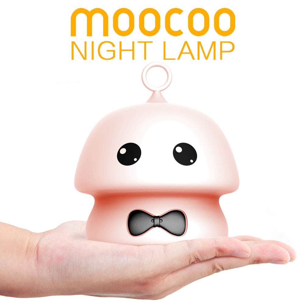 New Silicone Mushroom LED Night Light USB 7color Touch Animal Cartoon Colorful TableLamp for Children Baby Kids Gift Night Lamp