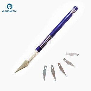 Image 3 - PHONEFIX резак гравировальные ремесленные ножи нескользящий металлический нож для скальпеля набор инструментов для Мобильный телефон PCB DIY ремонт режущий инструмент